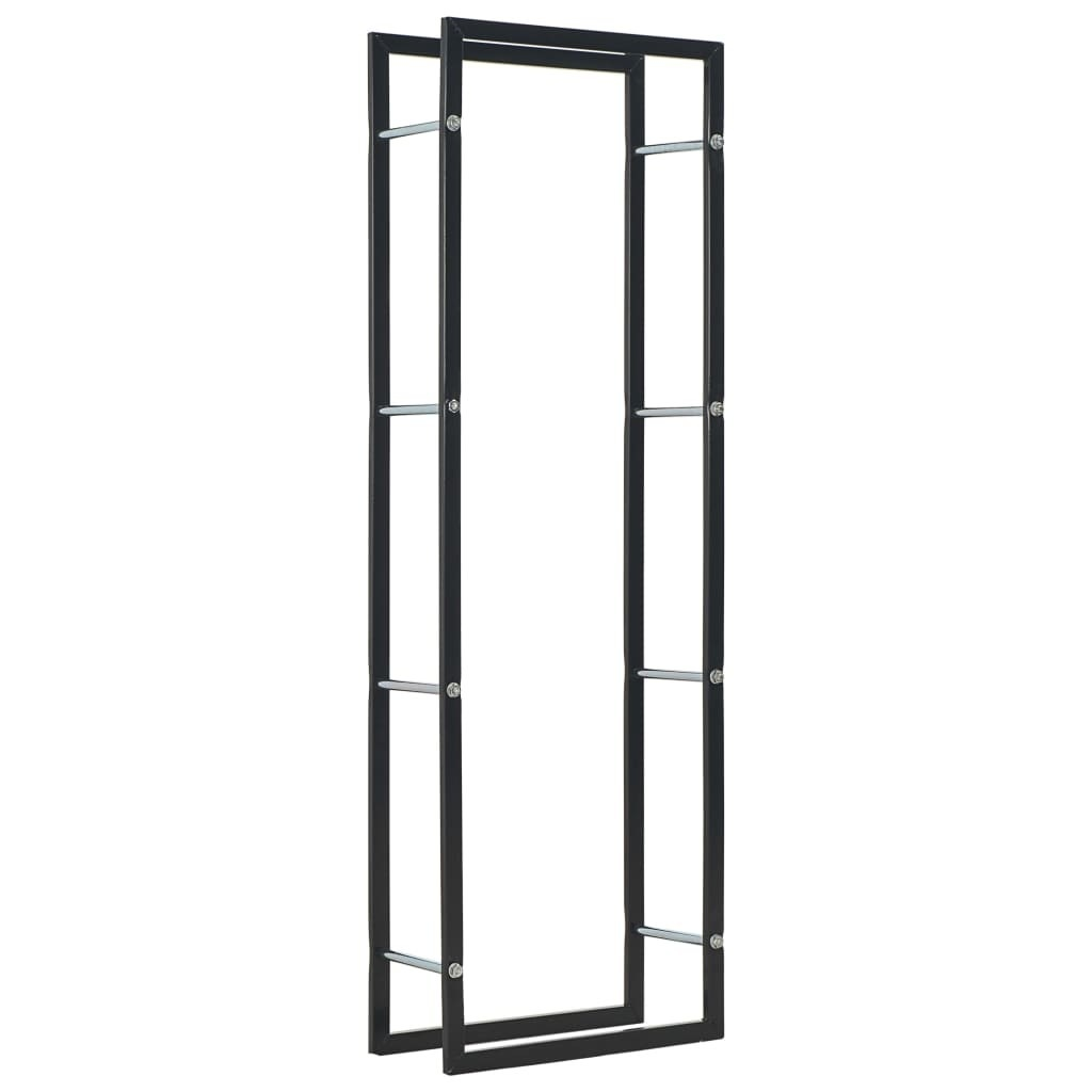 Firewood rack Black 50 x 20 x 150 cm steel
