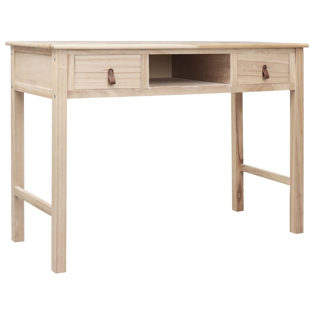 Writing Desk Natural 110x45x76 cm Wood