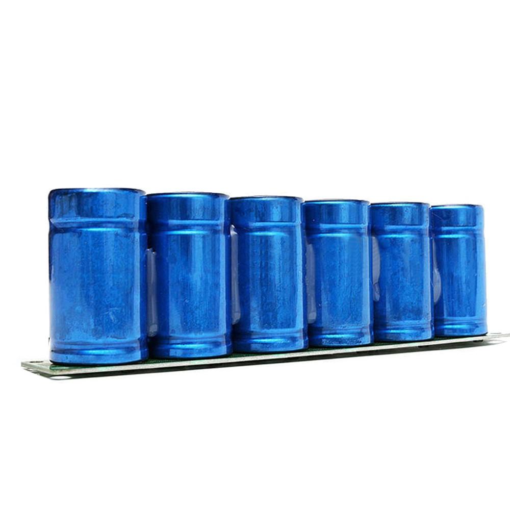 Farad Capacitor 2.7V 500F 6 Pcs/1 Set Super Capacity with Protection Board Aiomotive Capacitor 16V 83F Serial Connection