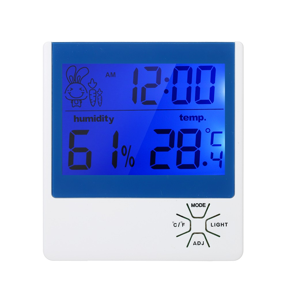 Digital Hygrometer Indoor Thermometer ℃/℉ Temperature Humidity Gauge Meter Alarm Clock Thermo-Hygrometer Accurate Temperature Humidity Monitor Meter with Backlight