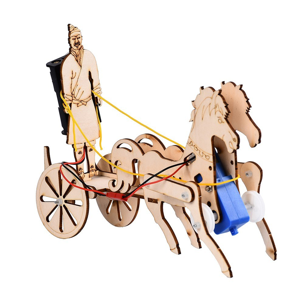 Interesting Scientific Experiment Technology Small-scale Manufacturing Handmade Material Terra Cotta Warriors Chariot Model