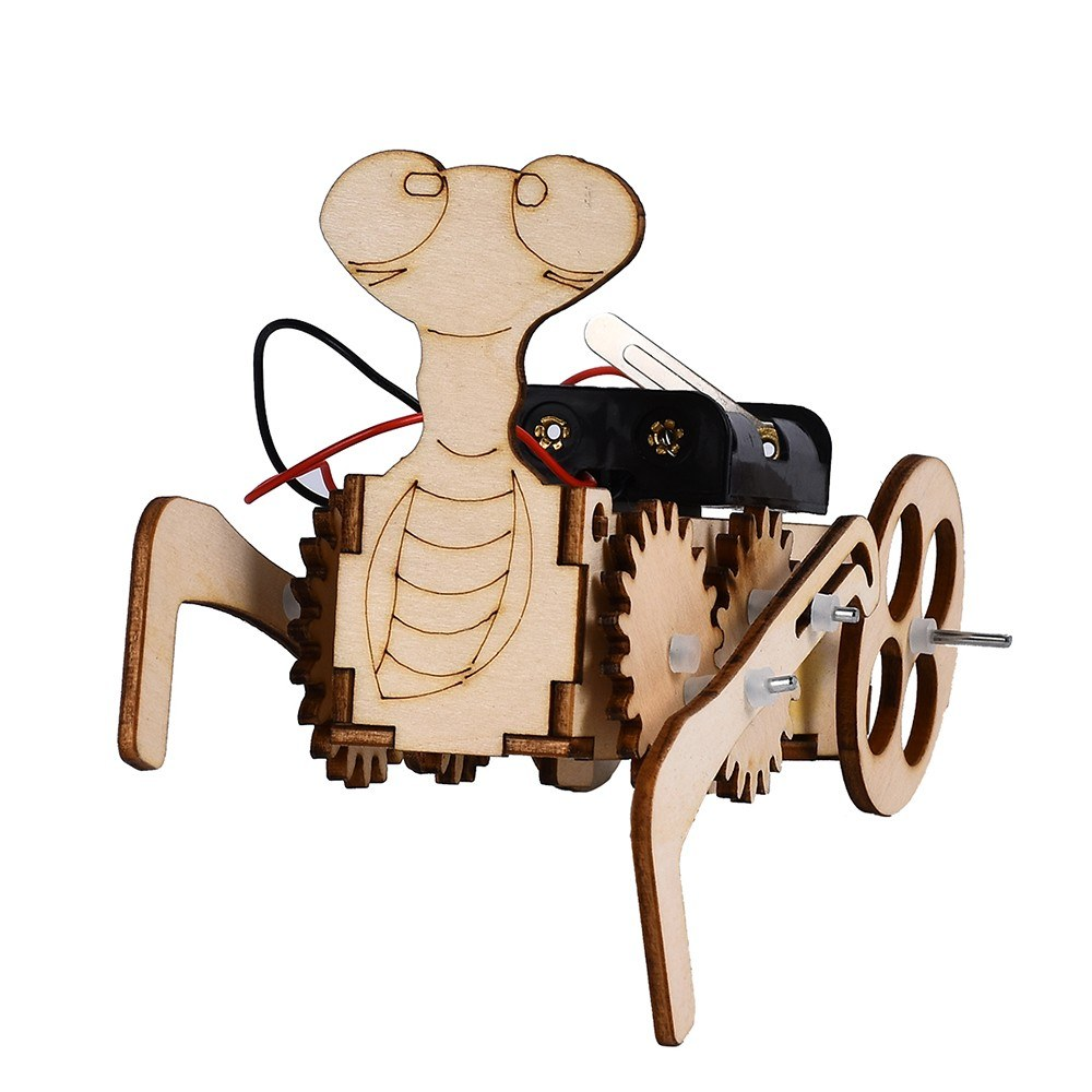 Interesting Scientific Experiment Mantis Trolley Model Technology Small-scale Manufacturing Handmade Material
