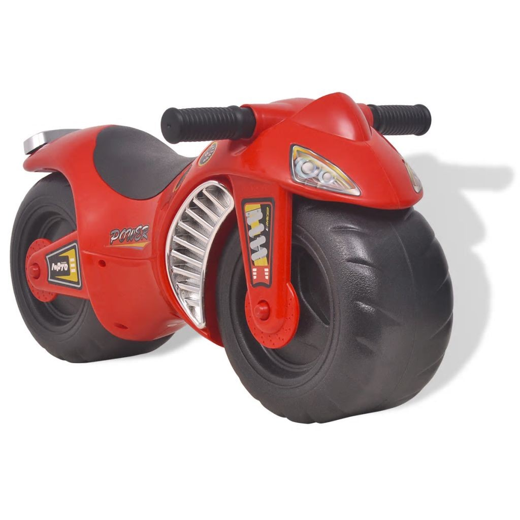 Motorcycle red plastic toy