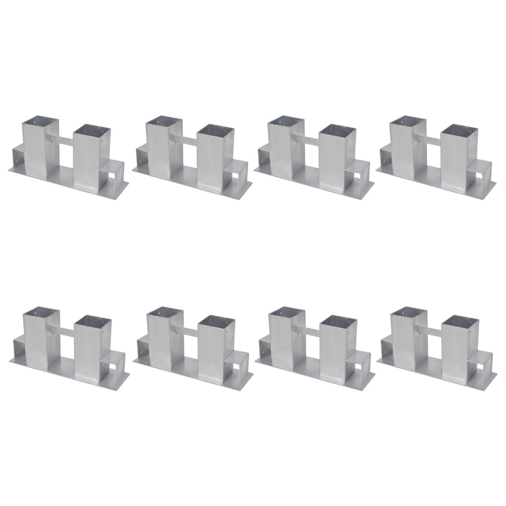 Firewood Stacking Aids 8 pcs Steel Silver