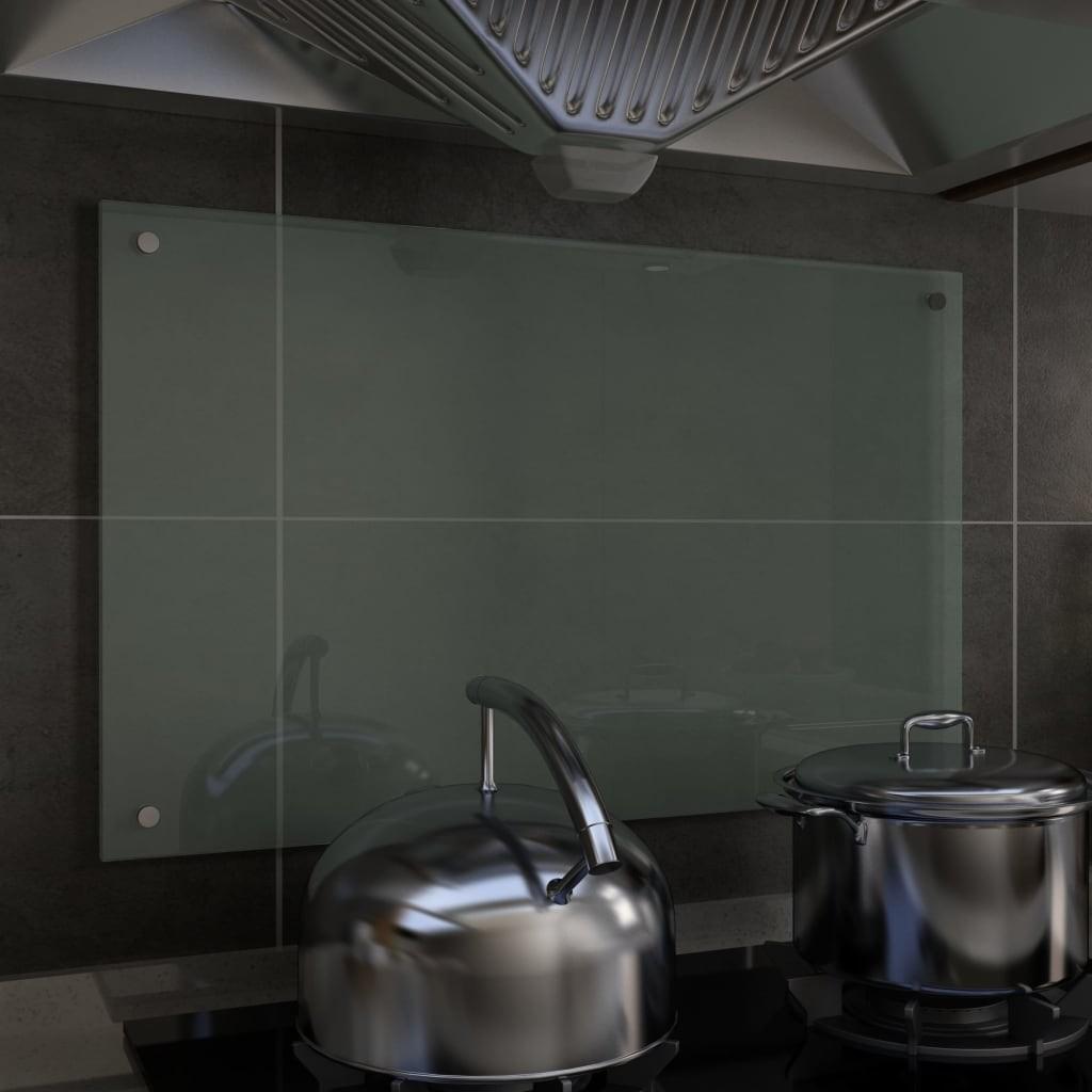 Kitchen Backsplash White 80x50 cm Tempered Glass