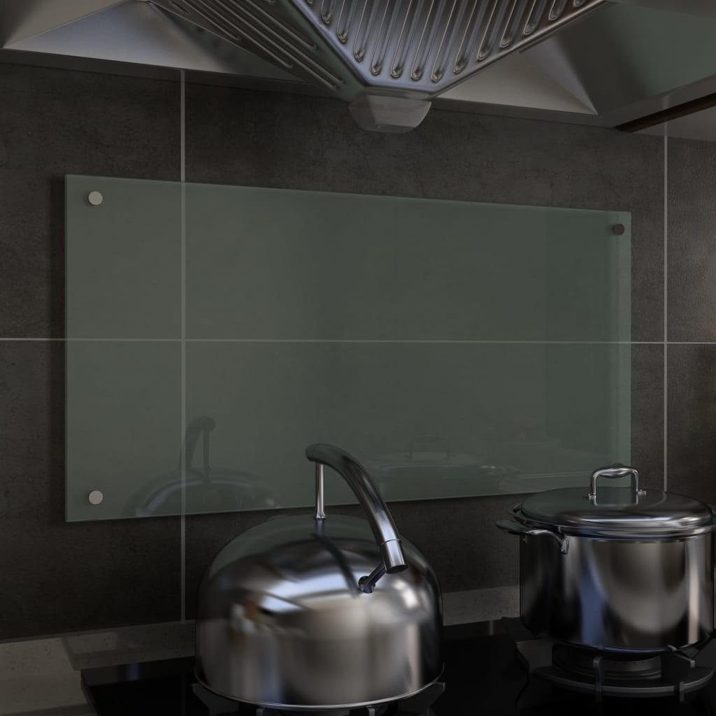 Kitchen Backsplash White 80x40 cm Tempered Glass