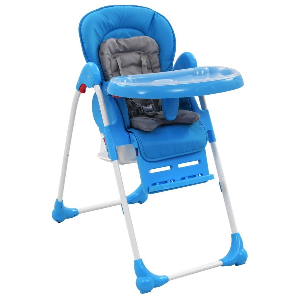 Baby highchair Blue and gray
