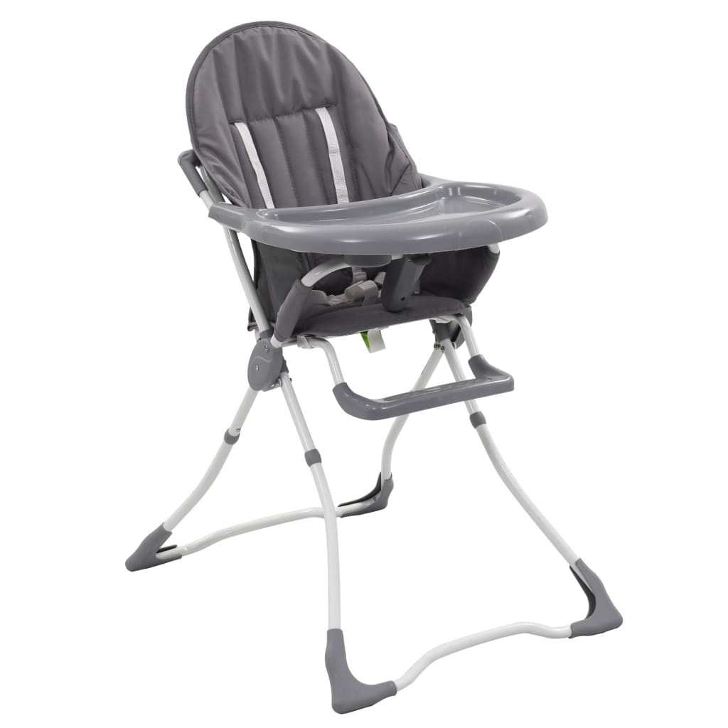 Baby highchair Gray and white