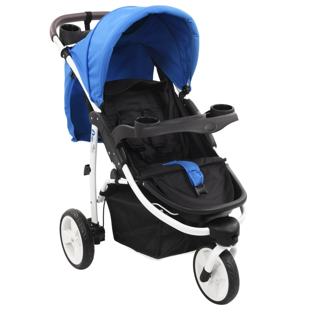Baby stroller with 3 wheels Blue and black