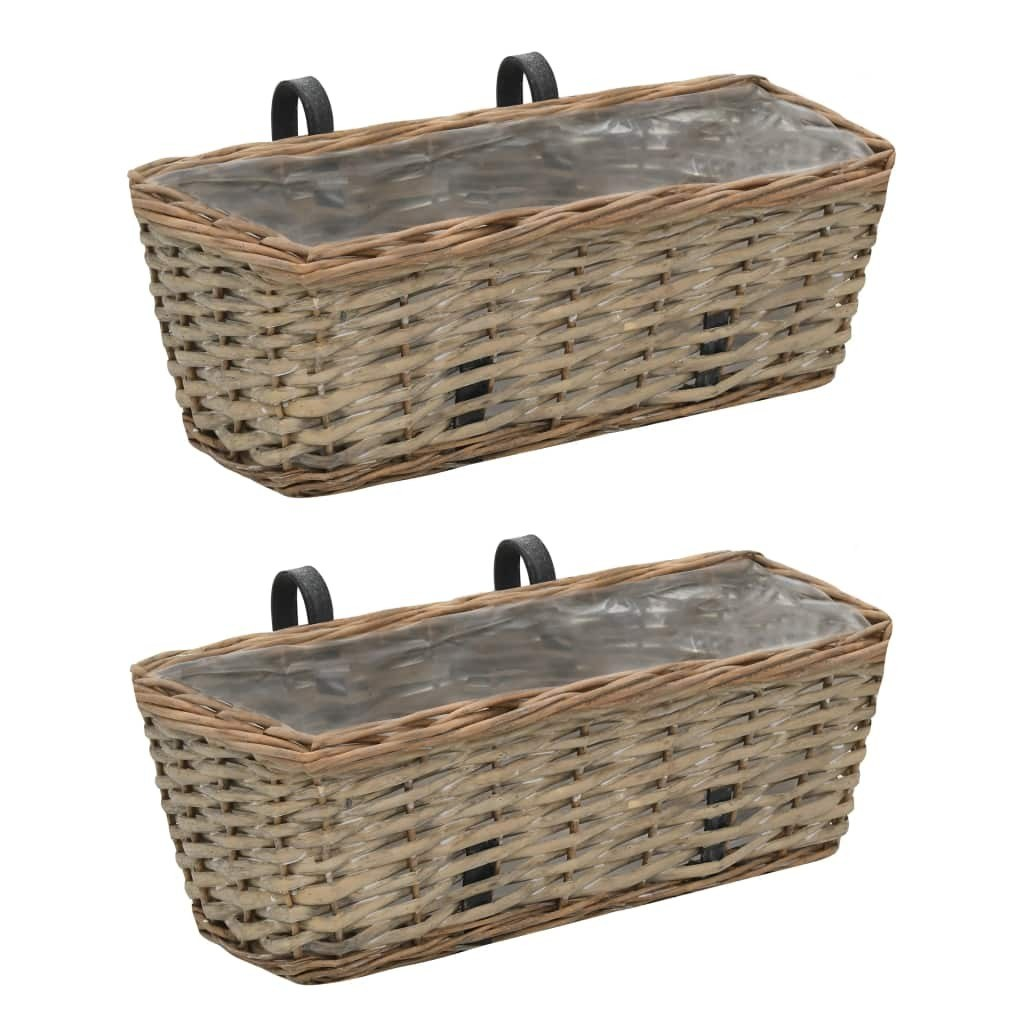 Balcony planter 2 pcs. Willow with PE lining 40 cm
