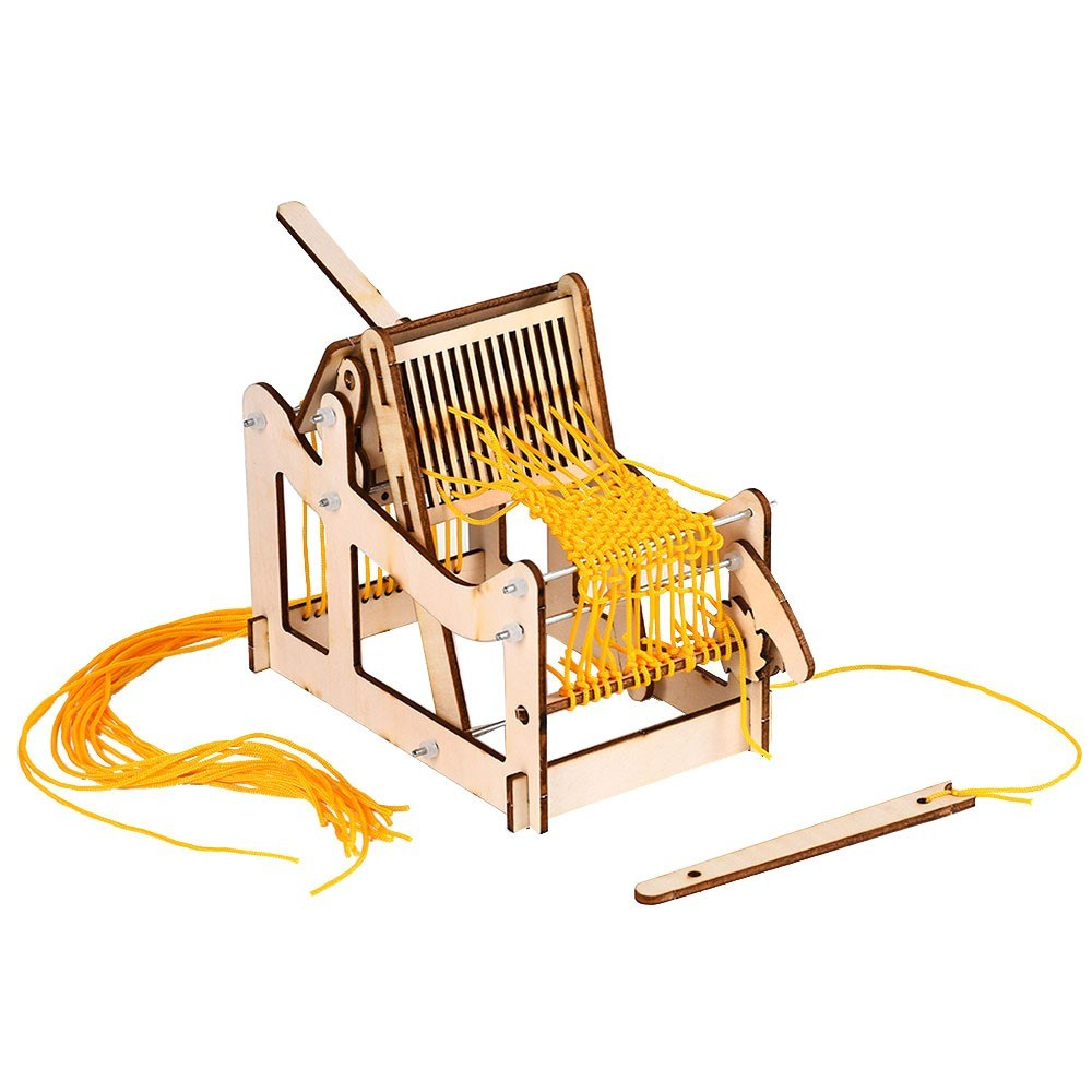 Interesting Scientific Experiment Technology Small-scale Manufacturing Handmade Material Loom Model