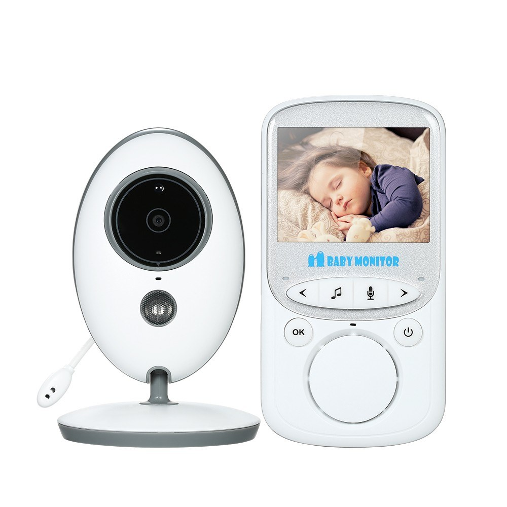 2.4 inches Color LCD Wireless Digital Video Baby Monitor with Lullabies Infrared Night Vision Two-way Talkback Temperature Monitoring Voice Activation Function AC100~240V