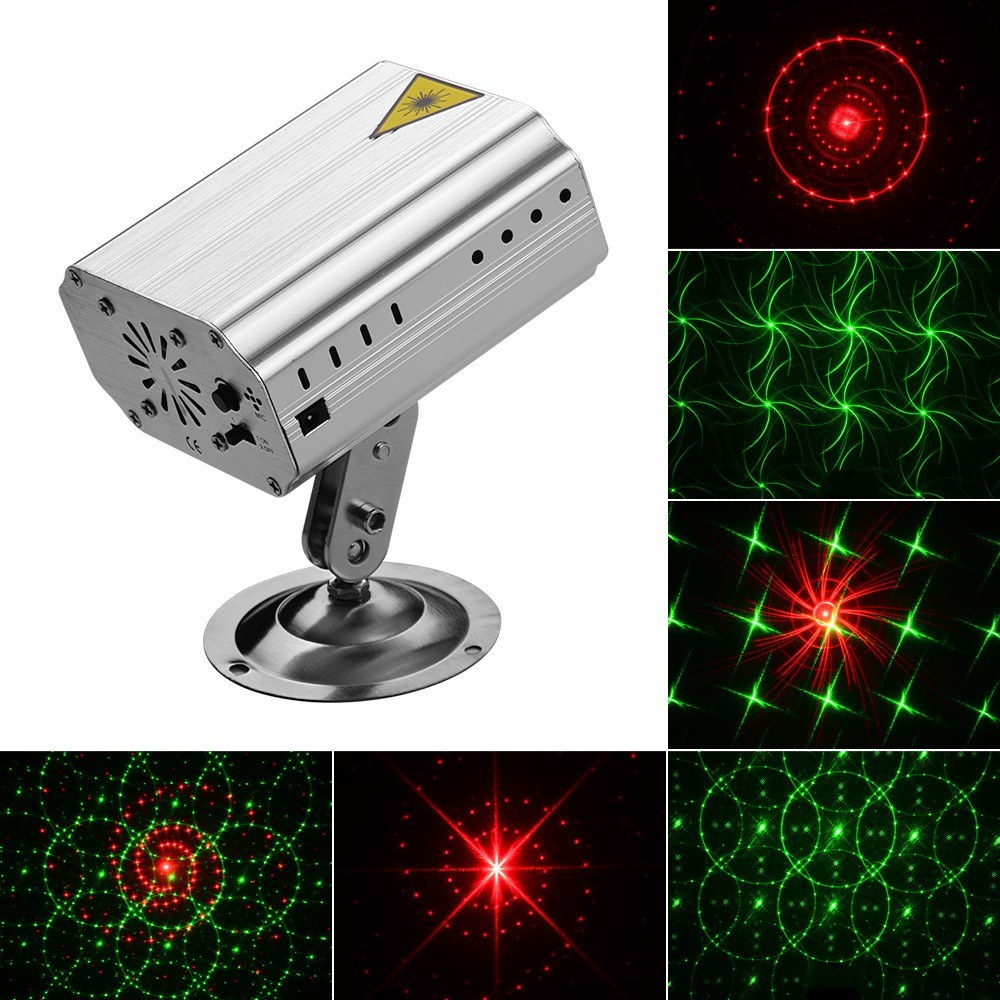 Mini Stage Light Multi Pattern Projector LED Lighting with Remote Control for Bar Club Party Live Performance