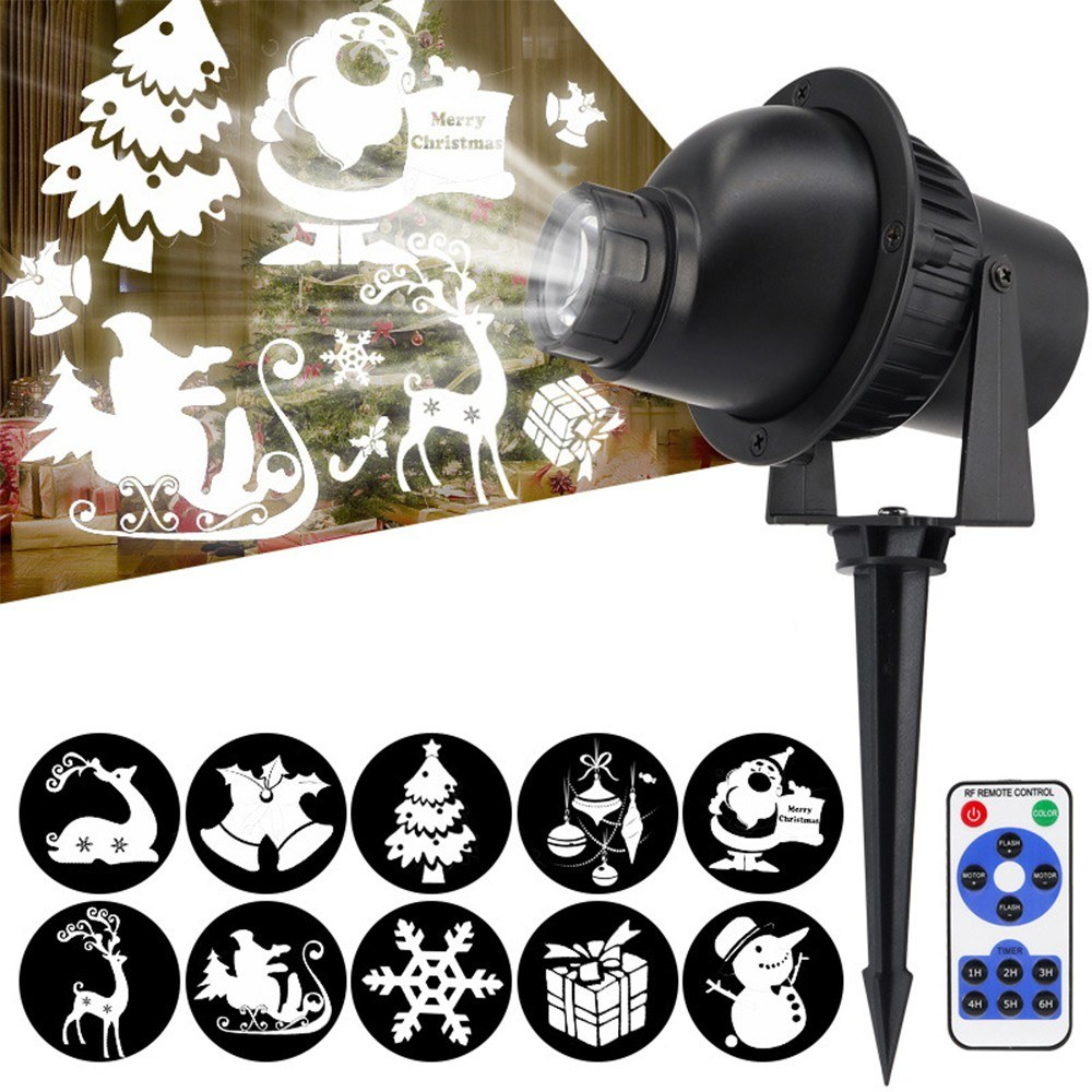 LED 3D Rotating Projector Light IP65 Waterproof Decoration for Christmas Festivals Party Outdoor Lawn Yard