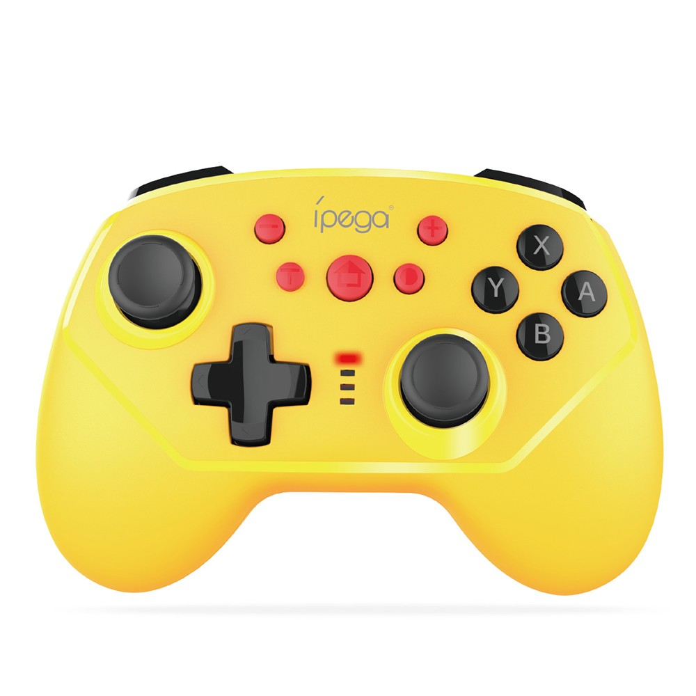 Ipega PG-9162 BT Game Controller with Six-axis Gyroscope Support Wireless/Wired Connection Dual Motor Compatible with N-Switch Host Game Remote Control Yellow