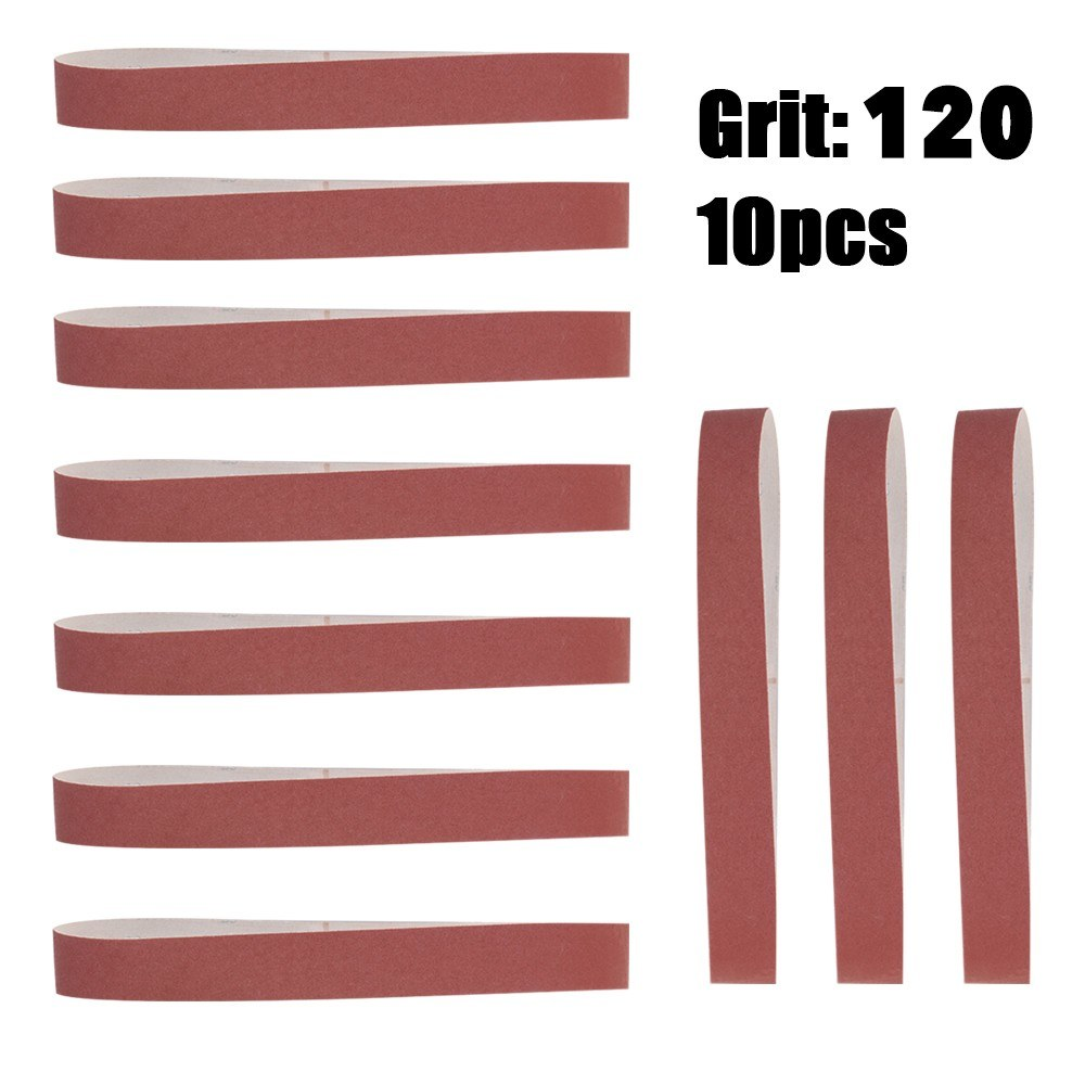 10pcs 580*30mm Sanding Belts 60-600 Grit Grinding and Polishing Replacement for Angle Grinder