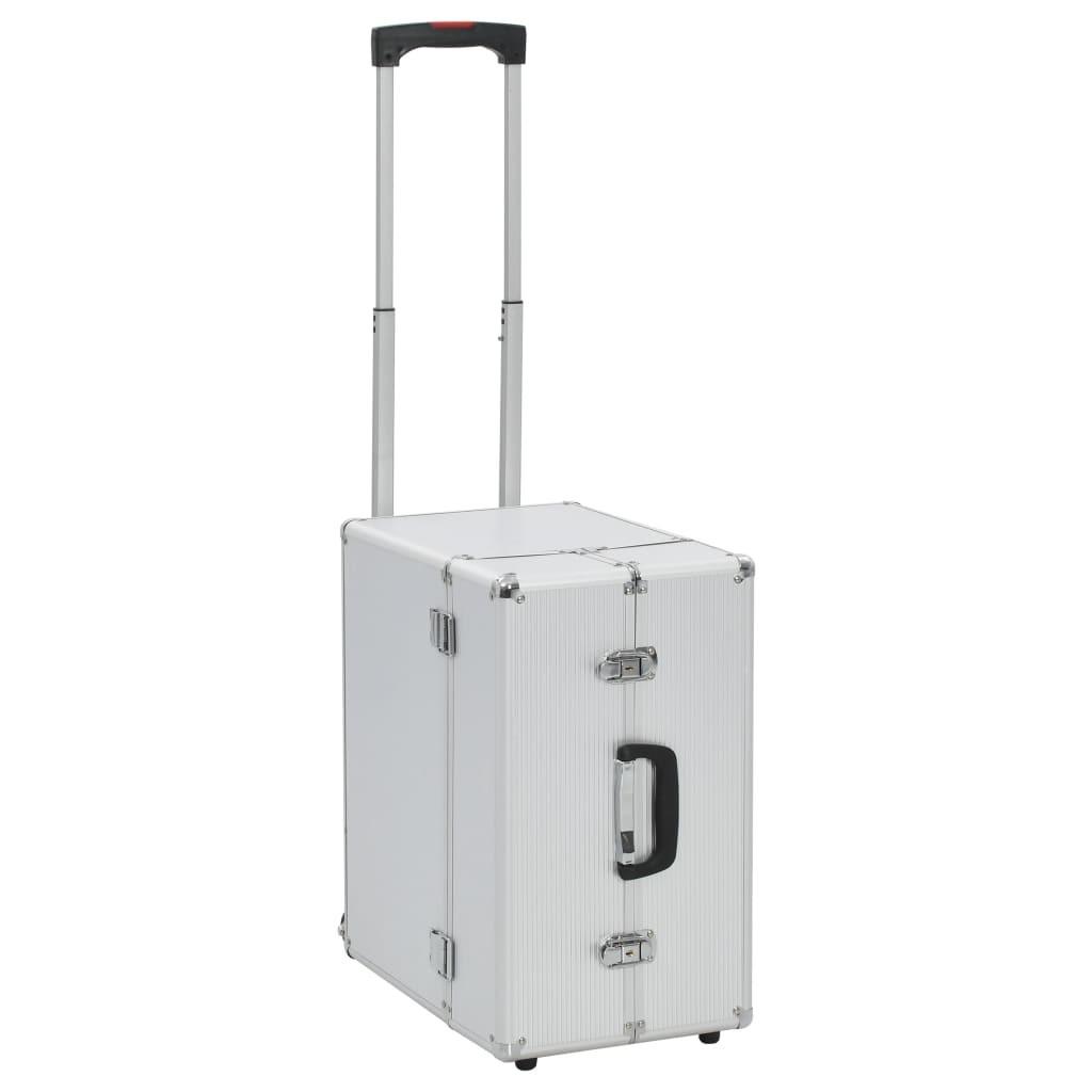 Pilot's suitcase 47 x 39 x 27 cm Silver Aluminum