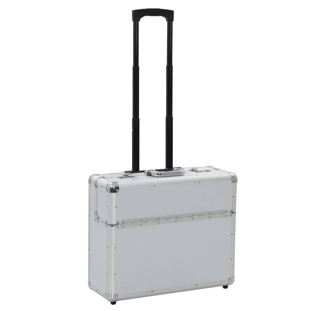 Pilot's suitcase 54 x 44 x 21 cm Silver Aluminum