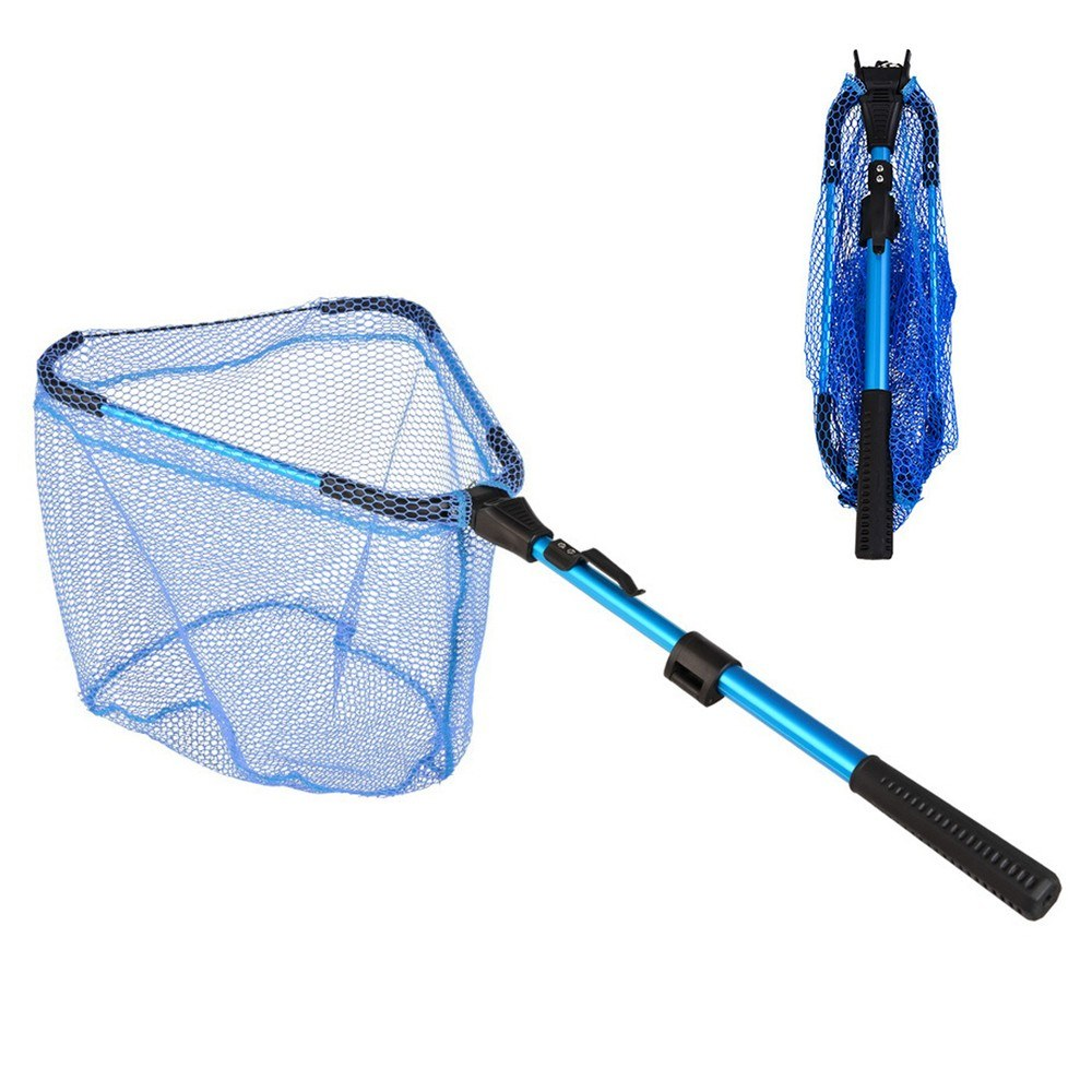 2 Section Collapsible Fishing Net Telescoping Folding Fish Landing Net for Fly Fishing Catch and Release