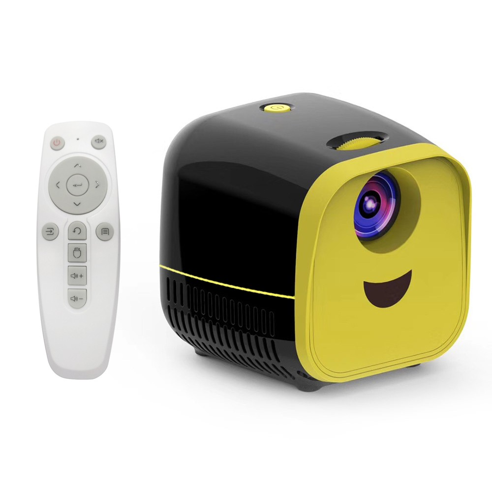 Mini LCD Projector Support 1080P Cute Kids Projector Children's LED Projector Built-in HiFi For Home Media Player Support TF Card