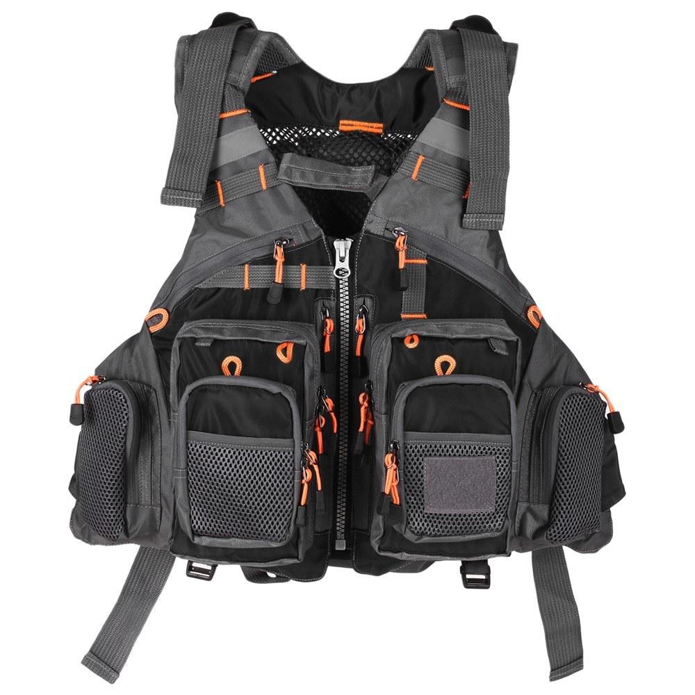 Lixada Outdoor Breathable Padded Fishing Life Vest Superior 209lb Bearing Life Safety Jacket Swimming Sailing Waistcoat Utility Vest Floatation Floating Device