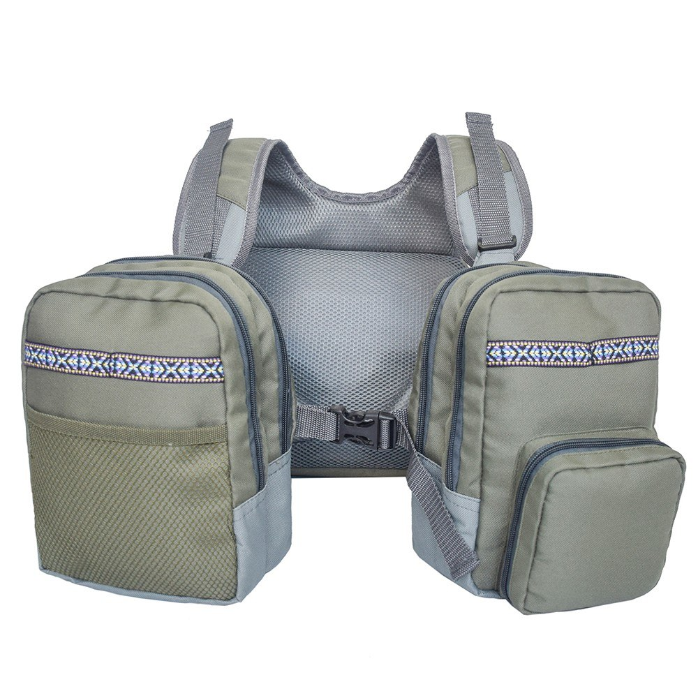 Multi-Pockets Fly Fishing Vest Waistcoat Outdoor Fishing Chest Pack Backpack
