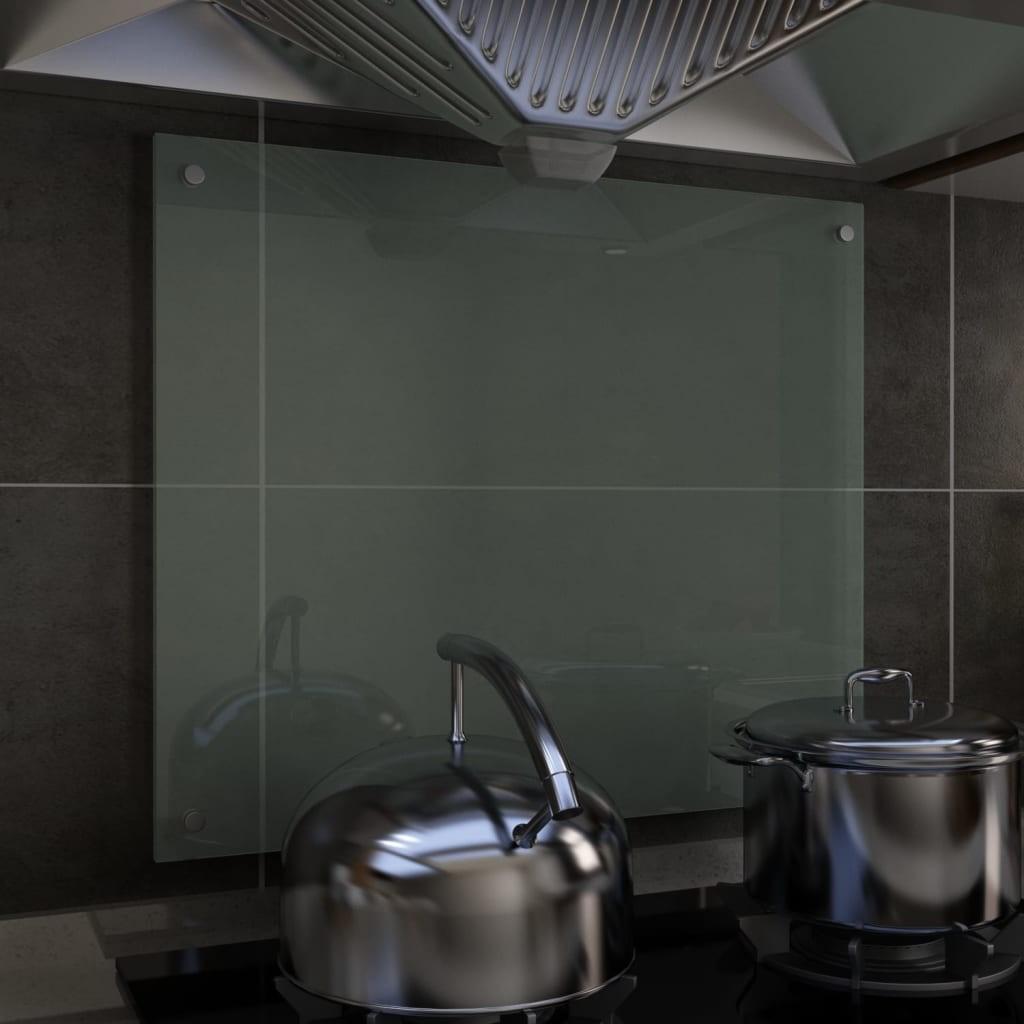 Kitchen Backsplash White 70 x 60 cm Tempered glass