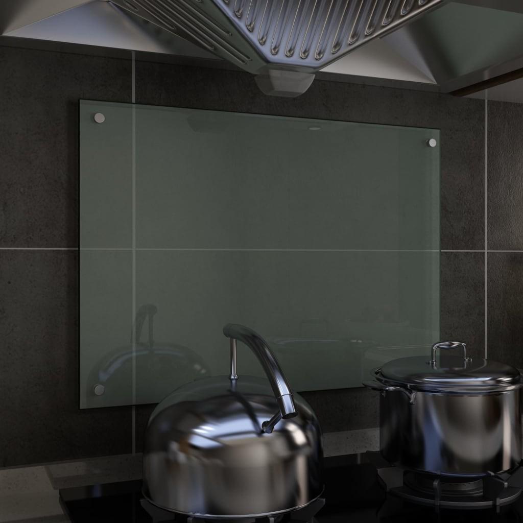 Kitchen Backsplash White 70 x 50 cm Tempered glass
