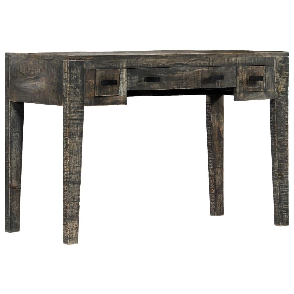 Office Black 110 x 50 x 75 cm Solid mango wood