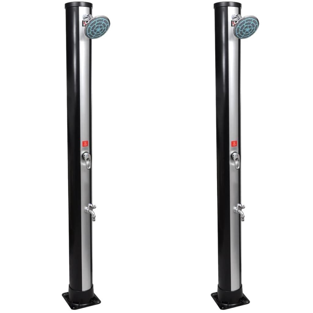 Solar Showers Outdoor Shower Head Faucet 2 Pcs 35 L