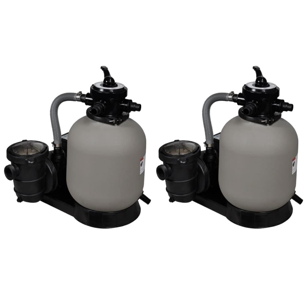 Pumps with sand filter 2 pcs 600 W 17000 l / h