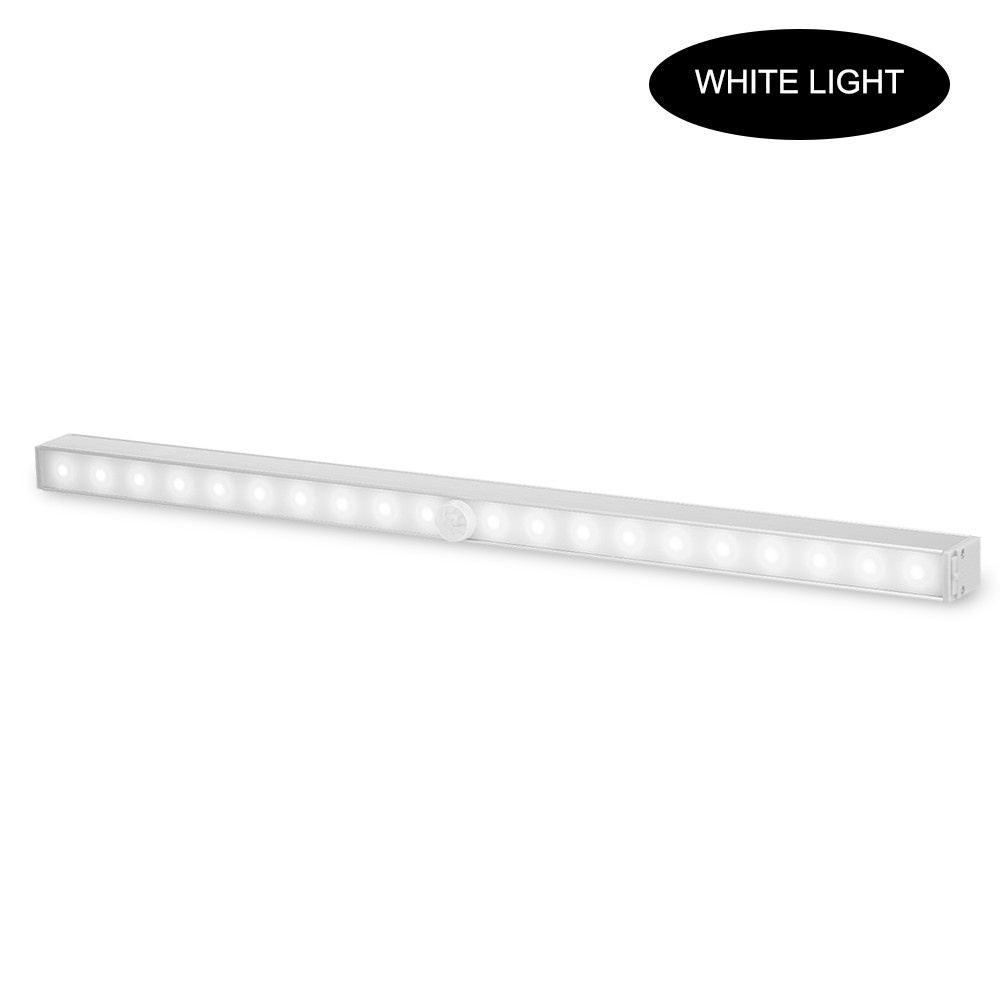 Under Cabinet Closet Lights Motion Sensor LED Light Night Lamp Magnetic Removable Stick-on Light 20 LEDs for Closet Wardrobe Drawer Cupboard Lighting White Light