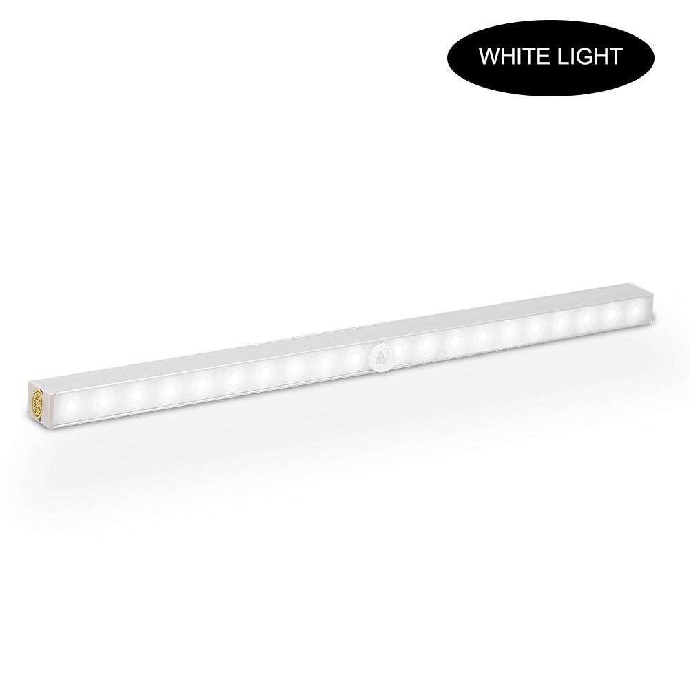 Motion Sensor LED Lights Under Cabinet Closet Light Night Lamp 20 LEDs for Closet Wardrobe Drawer Cupboard Lighting White Light