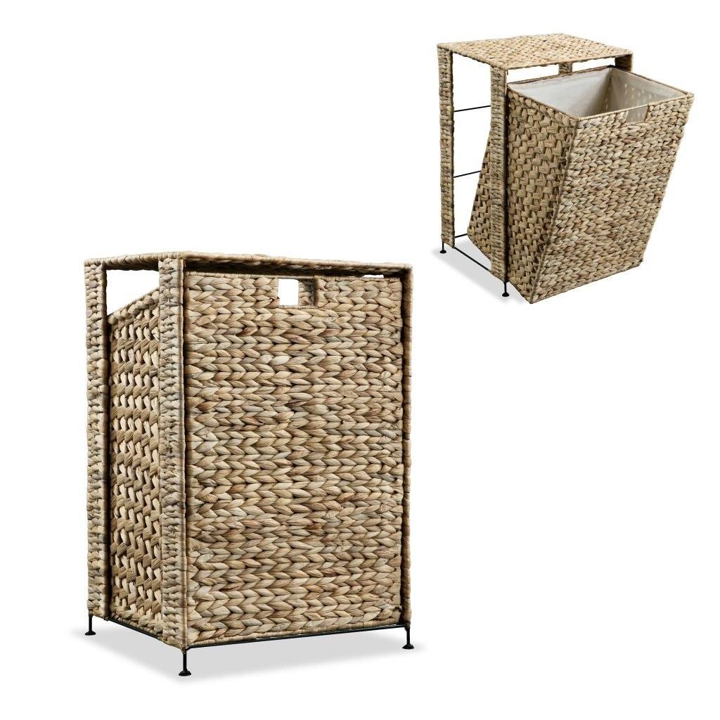 Laundry basket 44 x 34 x 64 cm Water hyacinth