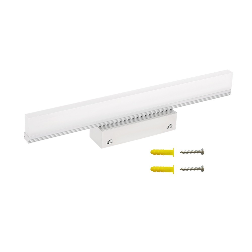 LED Mirror Lights Bathroom Bedroom Vanity Light Make-up Mirror Lights LED Arcylic Rectangle Tube Cabinet Wall Lamps IP44 6000K Neutral White Product Length: 400mm
