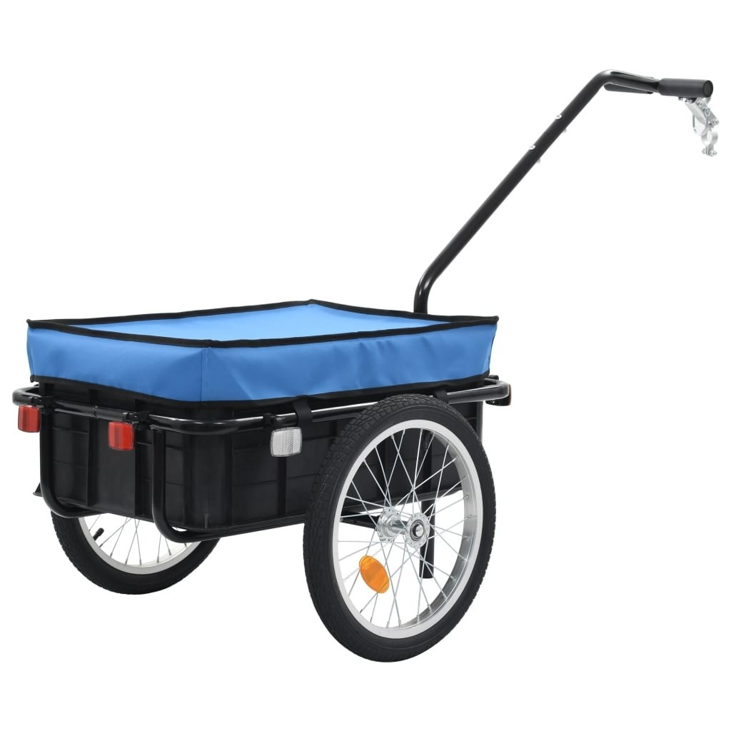 Bicycle Trailer / Hand Trolley 155x61x83 cm Steel Blue