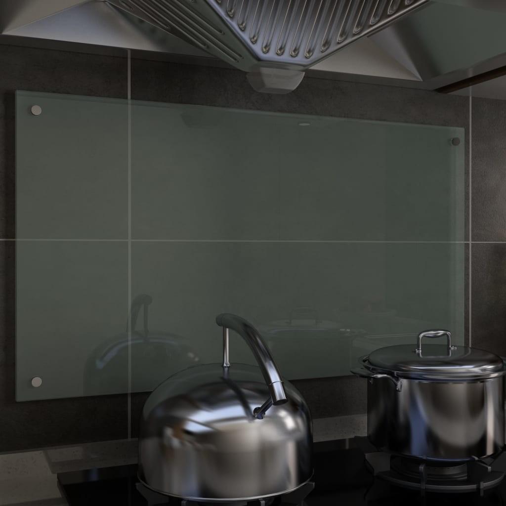 Kitchen Backsplash White 90 x 50 cm Tempered glass