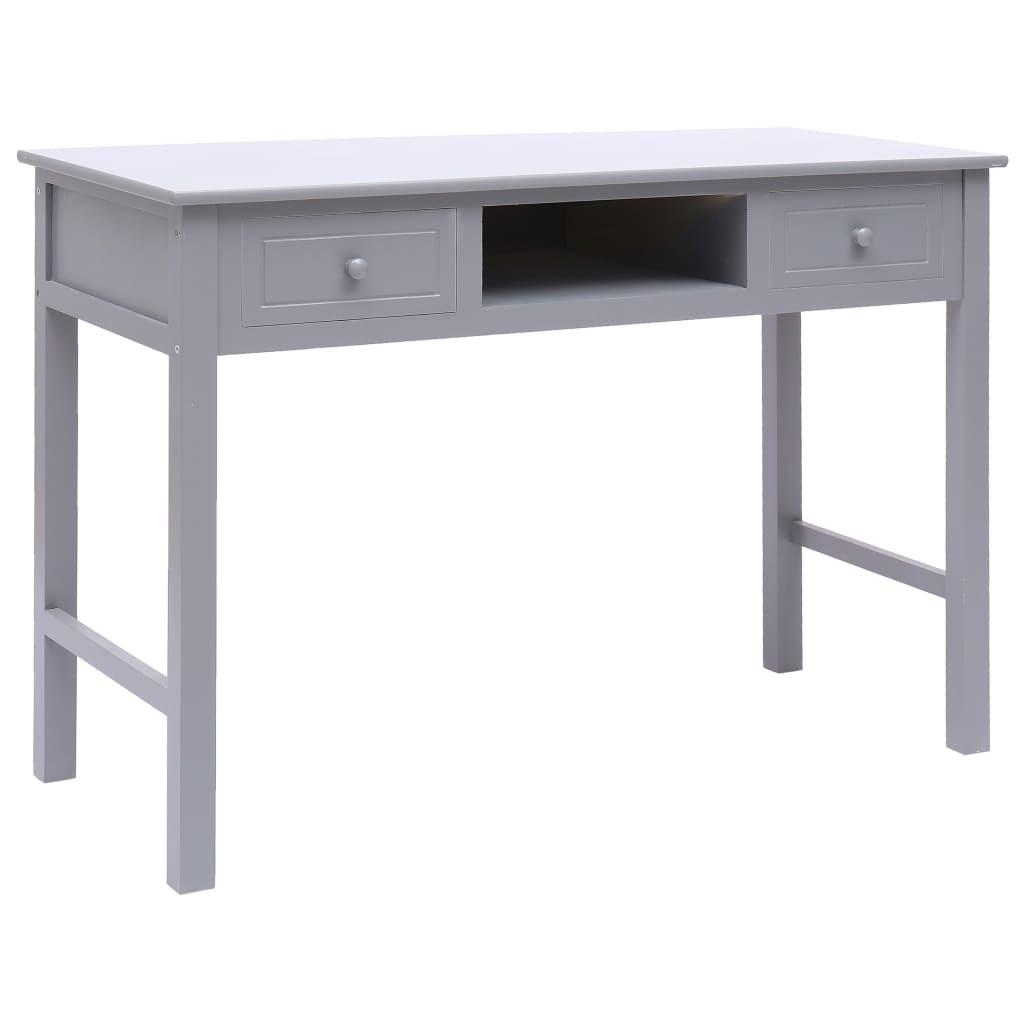 Gray Desk 110 x 45 x 76 cm Wood