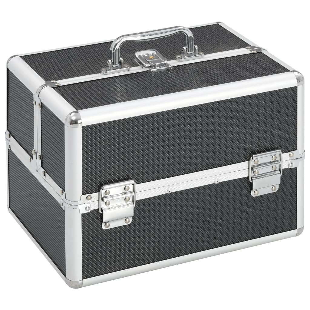 Makeup case 22x30x21 cm Black Aluminum