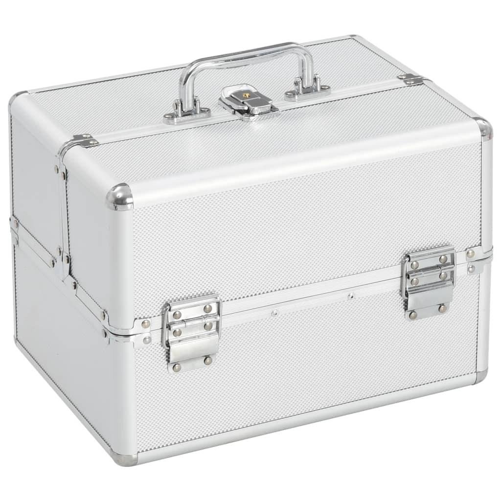 Makeup case 22x30x21 cm Silver Aluminum