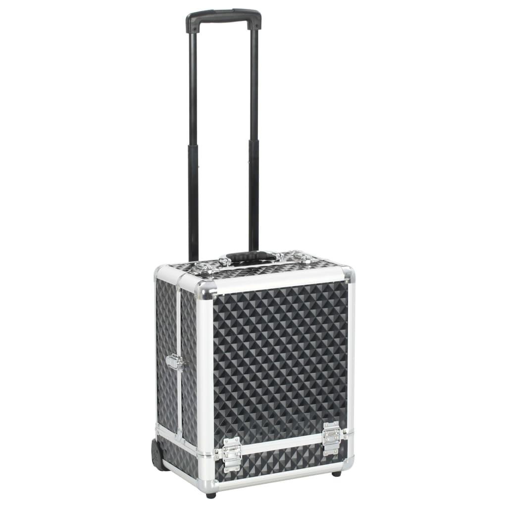 Makeup trolley 35x29x45 cm Black Aluminum