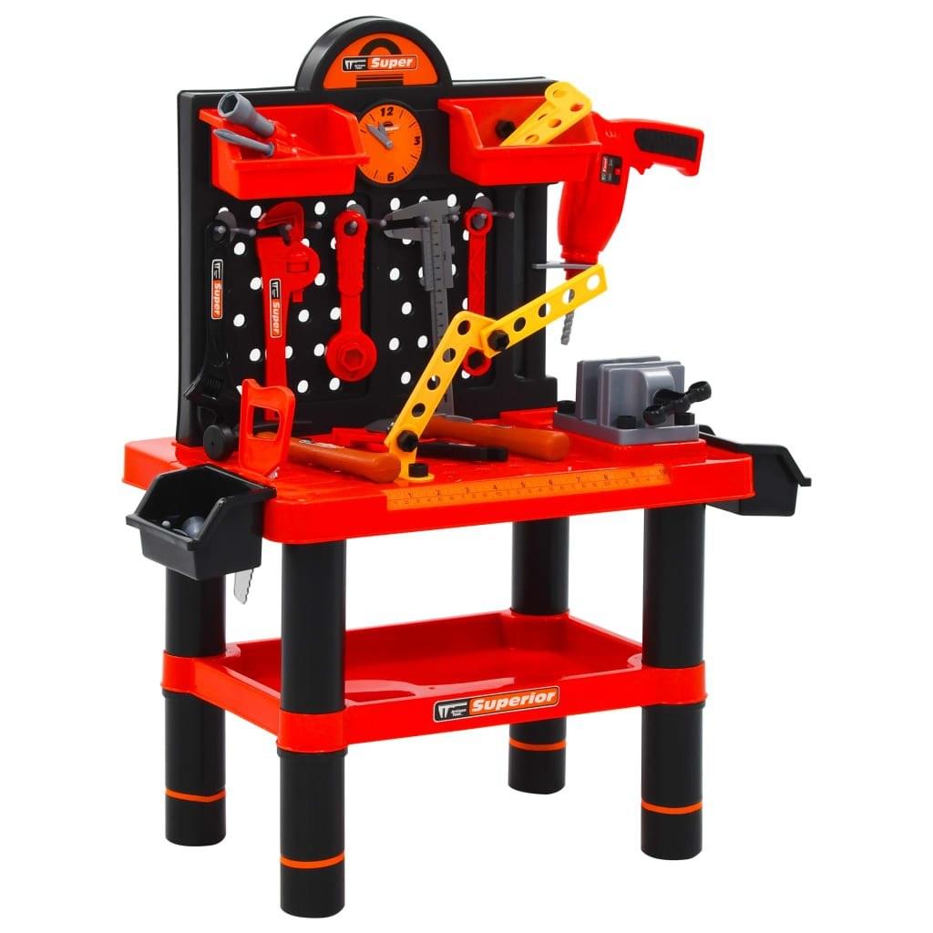 Toy workbench for children 51 pieces 57x32x68 cm