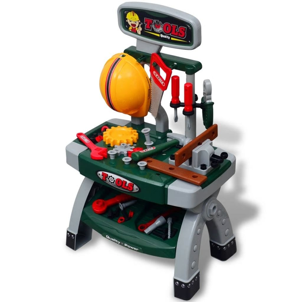 Established toy with Green Children tools + Grey