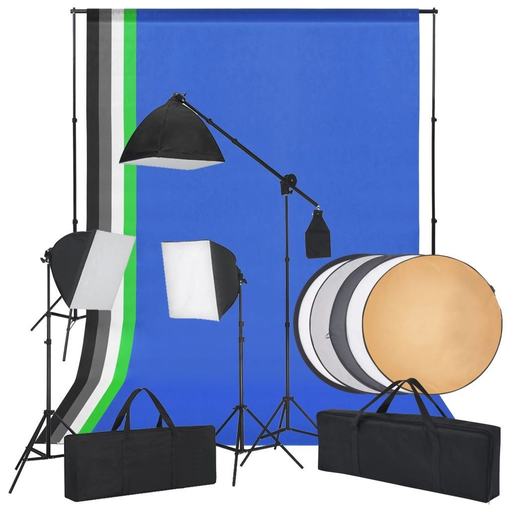 Studio flash kit and reflector