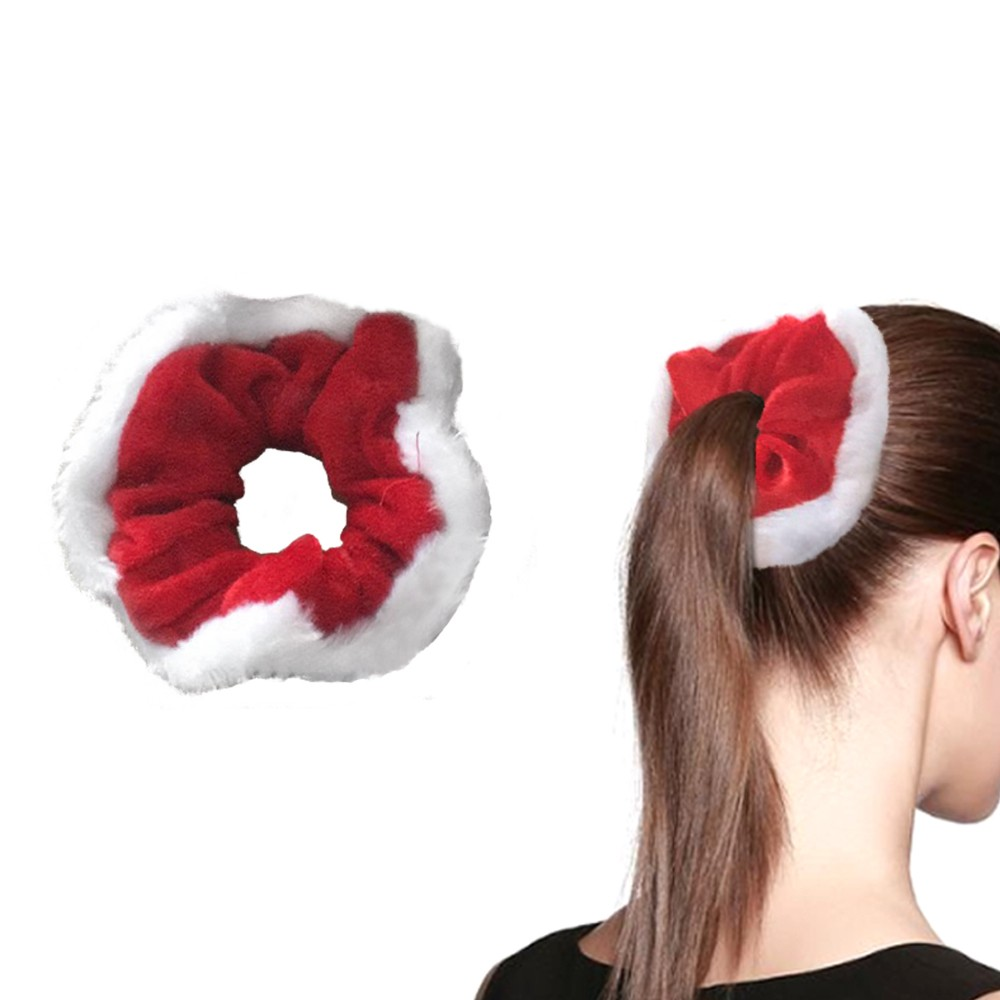 Hair Scrunchies Hair Flower Christmas Hair Band Flower Elastic Hair Ties Ponytail Holder for Girls Women