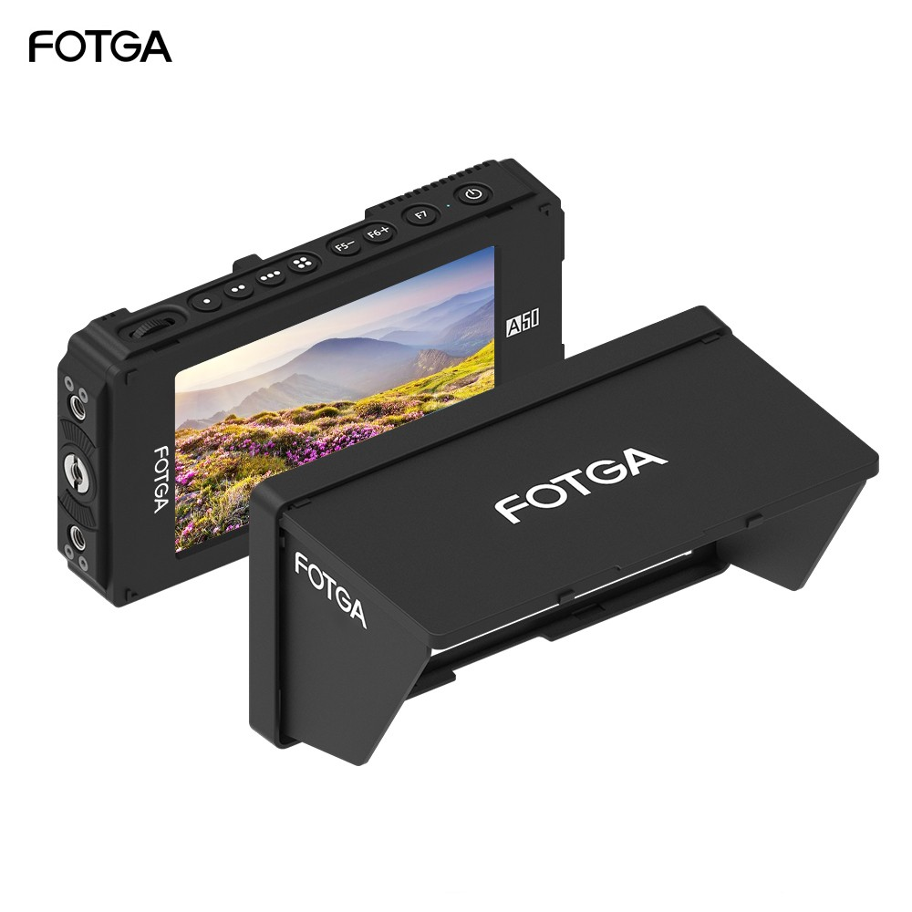 FOTGA A50TLS 5 Inch FHD Video On-camera Field Monitor IPS Touchscreen SDI 4K HDMI Input/Output 3D LUT Dual NP-F Battery Plate for A7S II GH5