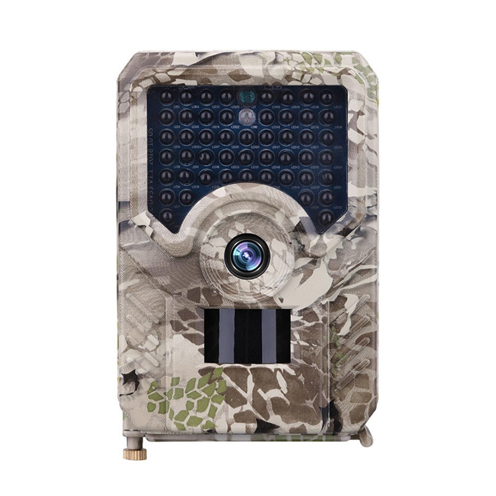 PR-200 Outdoor Hunt-ing Trial Camera Scouting Video Camera Adopted Sensitive PIR Infrared Sensor 1080P 18650 Batter-y Operated USB Cable IP56 Water Resistance for Sport Cycling Camouflage