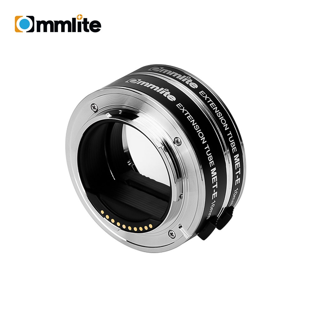 COMMLITE CM-MET-E Automatic Macro Extension Tube Ring Set 10mm 16mm Auto Focus TTL Exposure Compatible with Sony E-mount Mirrorless Cameras & Lens
