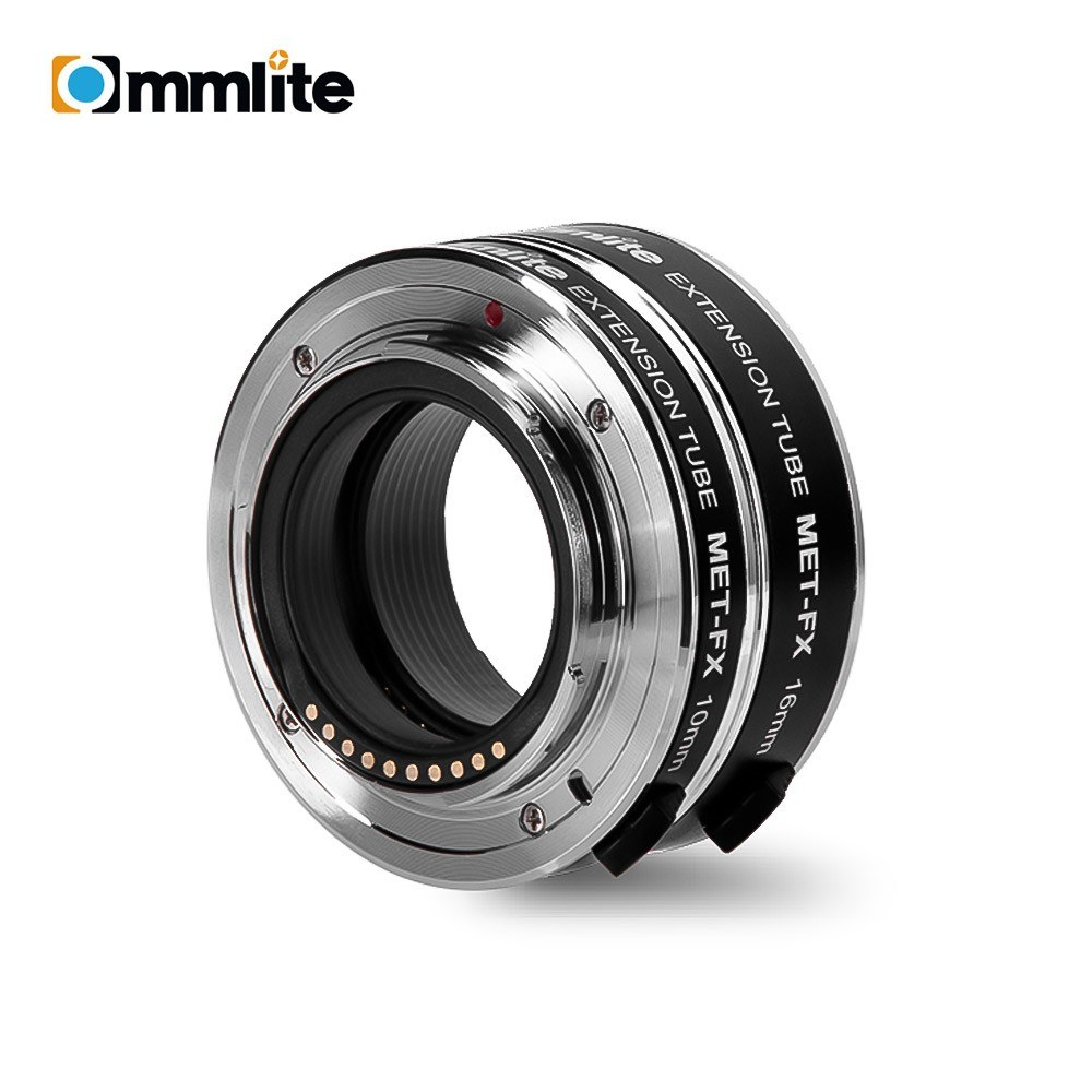 COMMLITE CM-MET-FX Automatic Extension Tube Adapter Ring Set 10mm 16mm Auto Focus TTL Exposure for Macro Photography Compatible with Fujifilm X-mount Mirrorless Cameras & Lens