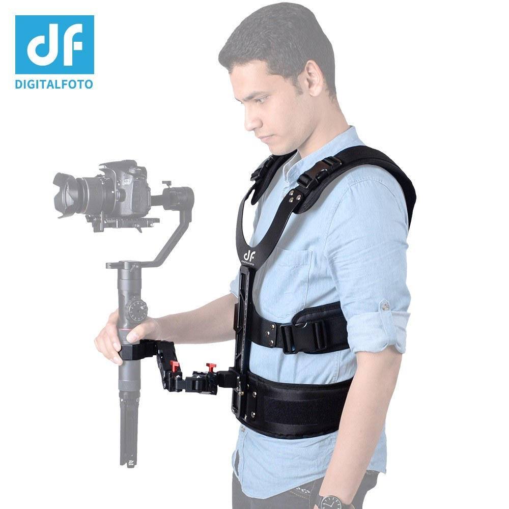 DF DIFITALFOTO THANOS Gimbal Stabilizer Supporting System with Dual-Spring Arm + Load Vest Compatible with DJI Ronin-S/ Zhiyun Crane Series/ Feiyu AK Series/ Moza Series Single Handle Gimbal